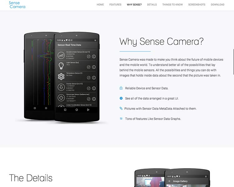 Sense Camera Android App Screens - Why Sense Camera?
