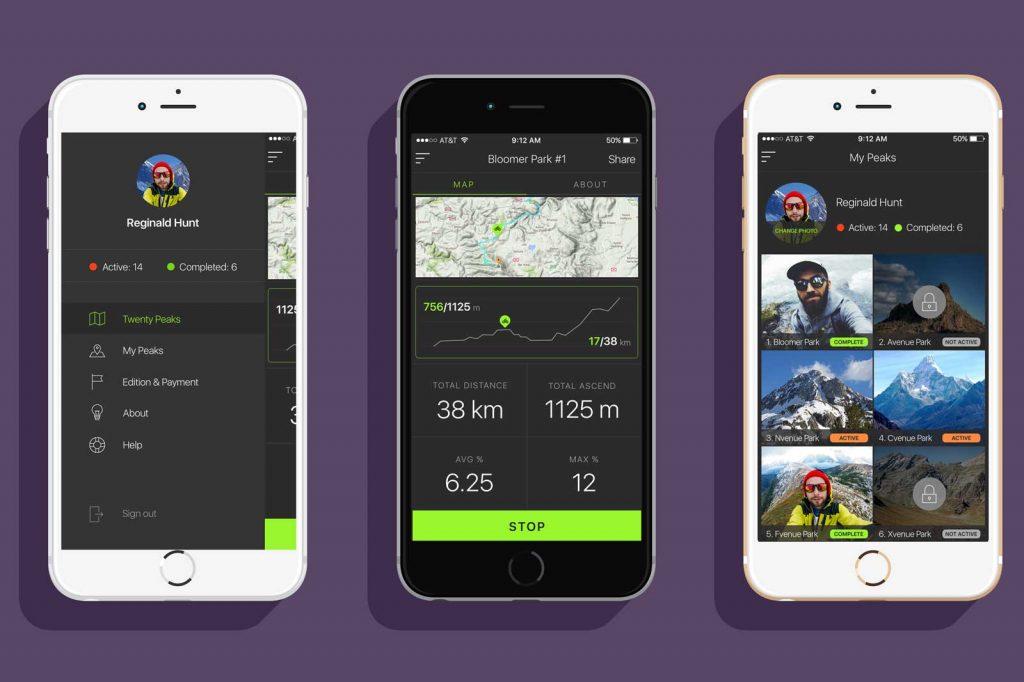 TwentyPeaks - Android App screenshots