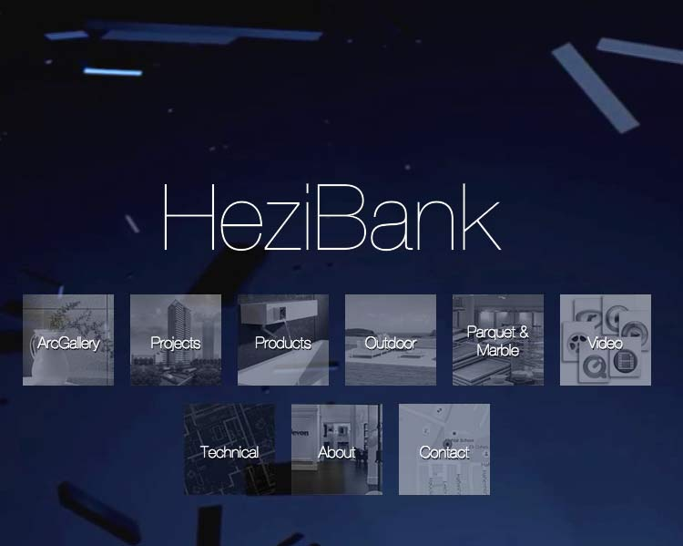 Hezibank - Home page on the Responsive Website