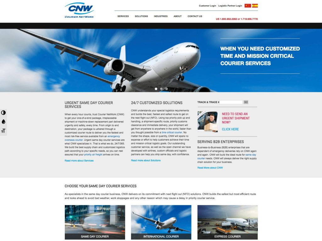 CNW - WordPress Website - HomePage