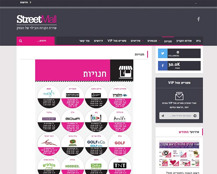 StreetMall - Website Screen 3 - Responsive WordPress Website