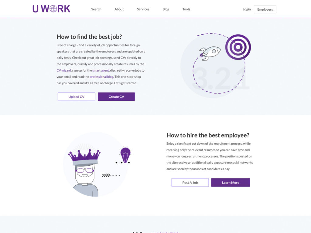 Uwork - Home Page