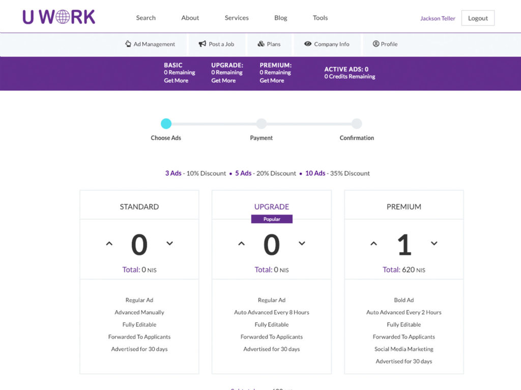 Uwork - Payment Plans & Credit