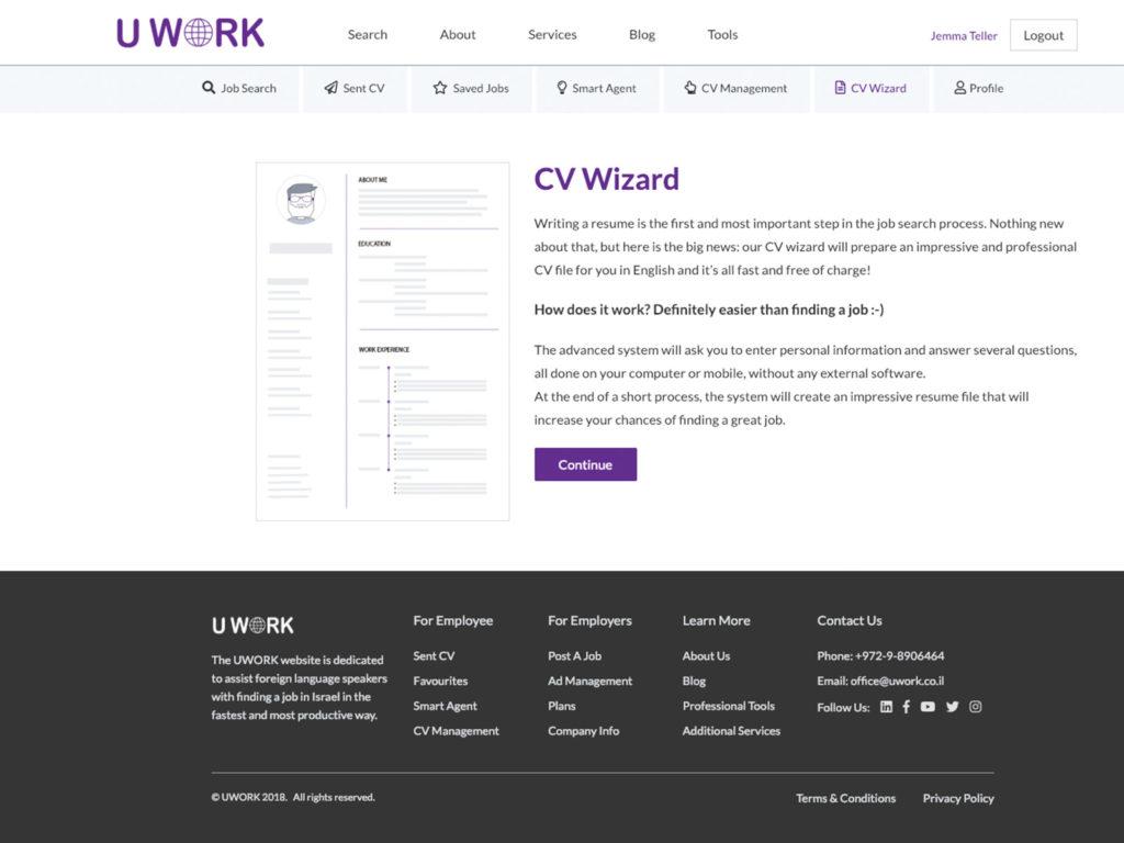 Uwork - CV Wizard